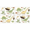 Dinosaur Baby and Kids Wall Decal Stickers - Set of 4 Sheets