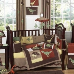 Dinosaur Baby Bedding - 9 pc Crib Set by Sweet Jojo Designs
