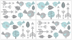 Earth and Sky Baby and Kids Wall Decal Stickers - Set of 4 Sheets