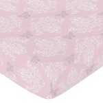 Fitted Crib Sheet for Alexa Baby/Toddler Bedding by Sweet Jojo Designs - Damask Print