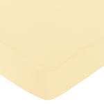 Fitted Crib Sheet for Avery Baby/Toddler Bedding by Sweet Jojo Designs - Yellow