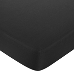 Fitted Crib Sheet for Baby and Toddler Bedding Sets by Sweet Jojo Designs - Solid Black Cotton
