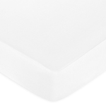 Fitted Crib Sheet for Baby and Toddler Bedding Sets by Sweet Jojo Designs - Solid White Cotton