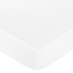 Fitted Crib Sheet for Baby and Toddler Bedding Sets by Sweet Jojo Designs - White Brushed Microfiber