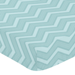 Fitted Crib Sheet for Balloon Buddies Baby/Toddler Bedding by Sweet Jojo Designs - Chevron Print