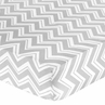 Fitted Crib Sheet for Black and Gray Chevron Zig Zag Baby/Toddler Bedding by Sweet Jojo Designs - Chevron Zig Zag Print