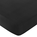 JoJo Designs Fitted Crib Sheet for Black and White Chevro...