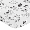 Fitted Crib Sheet for Black and White Fox Baby/Toddler Bedding by Sweet Jojo Designs - Fox Print