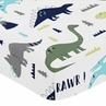 Fitted Crib Sheet for Blue and Green Mod Dinosaur Baby/Toddler Bedding by Sweet Jojo Designs