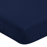 Fitted Crib Sheet for Blue Whale Baby/Toddler Bedding by Sweet Jojo Designs - Navy