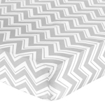 Fitted Crib Sheet for Chevron Baby/Toddler Bedding by Sweet Jojo Designs - Zig Zag Print