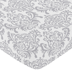 Fitted Crib Sheet for Elizabeth Baby/Toddler Bedding by S...