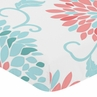 Fitted Crib Sheet for Emma Baby/Toddler Bedding by Sweet Jojo Designs - Floral Print