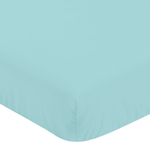 Fitted Crib Sheet for Emma Baby/Toddler Bedding by Sweet Jojo Designs - Turquoise