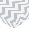 Fitted Crib Sheet for Gray and White Chevron Baby/Toddler Bedding by Sweet Jojo Designs - Zig Zag Print