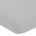 Fitted Crib Sheet for Grey and White Woodland Deer Baby/Toddler Bedding by Sweet Jojo Designs - Grey