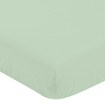 Fitted Crib Sheet for Grey, Coral and Mint Woodland Arrow Baby/Toddler Bedding by Sweet Jojo Designs - Mint