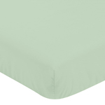 Fitted Crib Sheet for Grey, Navy Blue and Mint Woodland Arrow Baby/Toddler Bedding by Sweet Jojo Designs - Mint