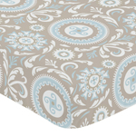 Fitted Crib Sheet for Hayden Baby/Toddler Bedding by Sweet Jojo Designs - Medallion Print