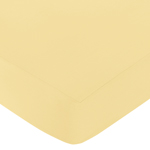 Fitted Crib Sheet for Honey Bee Baby/Toddler Bedding by Sweet Jojo Designs - Yellow