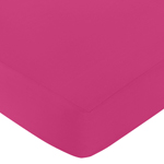 Fitted Crib Sheet for Hot Pink and White Chevron Baby/Toddler Bedding by Sweet Jojo Designs - Pink