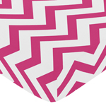 JoJo Designs Fitted Crib Sheet for Hot Pink and White Che...
