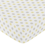 JoJo Designs Mod Garden Collection Fitted Sheet - Floral Print, Multi-Colored