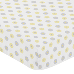 Fitted Crib Sheet for Mod Garden Baby/Toddler Bedding by Sweet Jojo Designs - Floral Print