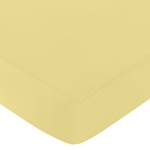 Fitted Crib Sheet for Mod Garden Baby/Toddler Bedding by Sweet Jojo Designs - Yellow