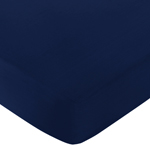 Fitted Crib Sheet for Navy and White Chevron Baby/Toddler Bedding by Sweet Jojo Designs - Solid Navy