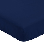 Fitted Crib Sheet for Navy, Mint and Grey Woodsy Baby/Toddler Bedding by Sweet Jojo Designs - Solid Navy Blue