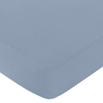Fitted Crib Sheet for Ocean Blue Baby/Toddler Bedding by Sweet Jojo Designs - Light Blue