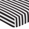 Fitted Crib Sheet for Paris Baby/Toddler Bedding by Sweet Jojo Designs - Black and White Stripe