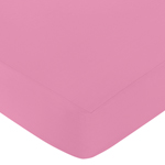 Fitted Crib Sheet for Paris Baby/Toddler Bedding by Sweet Jojo Designs - Dark Pink