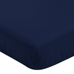 Fitted Crib Sheet for Plaid Baby and Toddler Bedding by Sweet Jojo Designs - Navy Blue