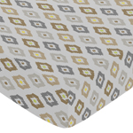 Fitted Crib Sheet for Safari Outback Baby/Toddler Bedding by Sweet Jojo Designs - Ikat Print
