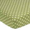 Fitted Crib Sheet for Sea Turtle Baby/Toddler Bedding by Sweet Jojo Designs - Tonal Green Dots