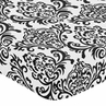 Fitted Crib Sheet for Sloane Baby/Toddler Bedding by Sweet Jojo Designs - Damask Print