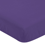 Fitted Crib Sheet for Sloane Baby/Toddler Bedding by Sweet Jojo Designs - Purple