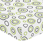 Fitted Crib Sheet for Spirodot Baby/Toddler Bedding by Sweet Jojo Designs - Circles Print