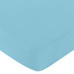 Fitted Crib Sheet for Spring Garden Baby/Toddler Bedding by Sweet Jojo Designs - Turquoise