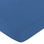 Fitted Crib Sheet for Trellis Baby/Toddler Bedding by Sweet Jojo Designs - Blue
