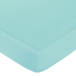 Fitted Crib Sheet for Turquoise and Gray Chevron Zig Zag Baby/Toddler Bedding by Sweet Jojo Designs - Turquoise