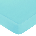 Fitted Crib Sheet for Turquoise and Lime Hooty Owl Baby/Toddler Bedding by Sweet Jojo Designs - Turquoise