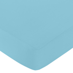 JoJo Designs Fitted Crib Sheet for Turquoise and White Ch...