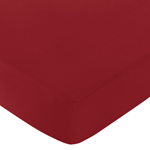 Fitted Crib Sheet for White and Red Hotel Baby/Toddler Bedding by Sweet Jojo Designs - Red