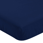 Fitted Crib Sheet for Woodland Deer Baby/Toddler Bedding by Sweet Jojo Designs - Navy Blue