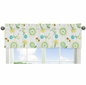 Floral Print Window Valance for Turquoise and Lime Layla Collection