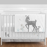 Forest Deer and Dandelion - 4pc Crib Bedding Set by Sweet Jojo Designs