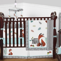 Forest Fox Baby Bedding - 9pc Crib Set by Sweet Jojo Designs